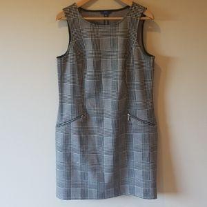 Apt. 9 shift dress houndstooth plaid w/pockets L